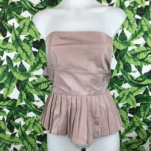 5 for $25 Zara Mauve Strapless Pleated Top
